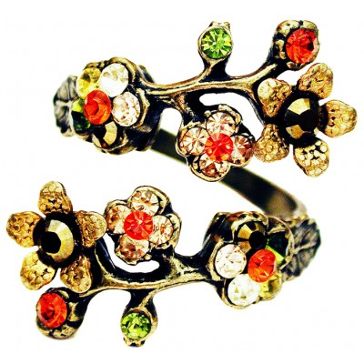 Michal Negrin Autumn Cherry Blossom Wrap Ring