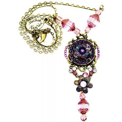 Michal Negrin Purple Pendant Necklace