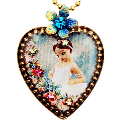 Michal Negrin Ballerina Heart Necklace
