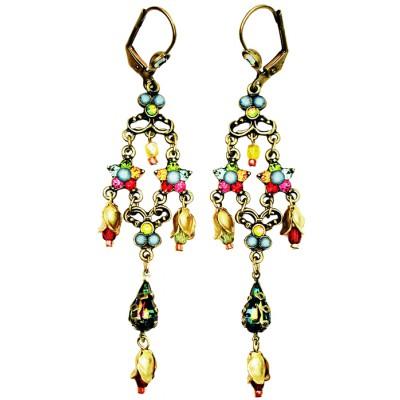 Michal Negrin Multicolor Stars Drop Earrings
