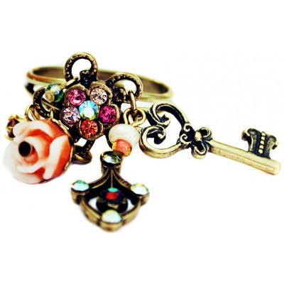 Michal Negrin Victorian Crystals Charms Ring