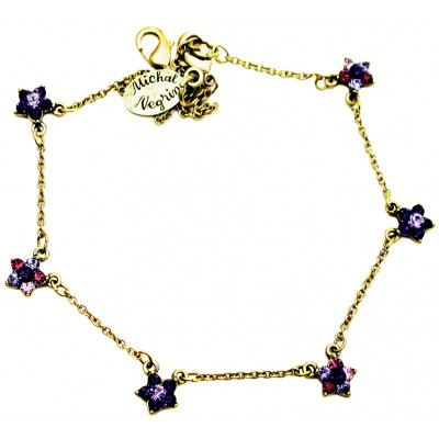 Michal Negrin Purple Stars Anklet