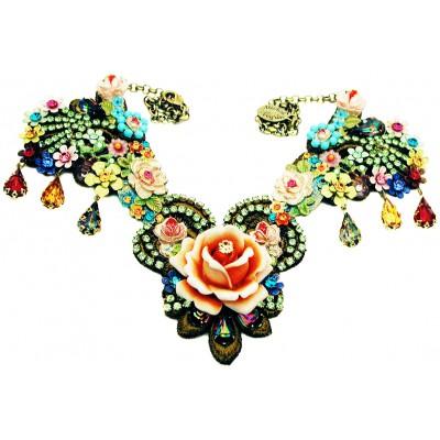 Michal Negrin Multicolor Rose Garden Necklace