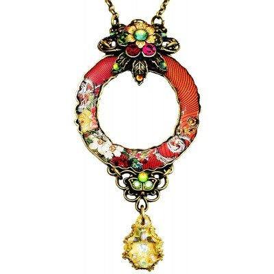 Michal Negrin Red Circle Pendant Necklace