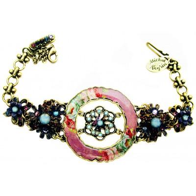 Michal Negrin Purple Roses Circle Bracelet