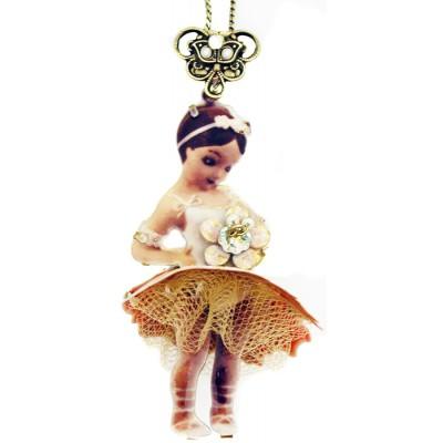 Michal Negrin Ballerina 3D Pendant Necklace