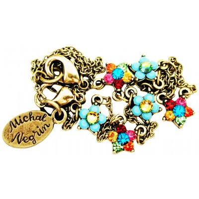 Michal Negrin Multicolor Turquoise Stars Anklet