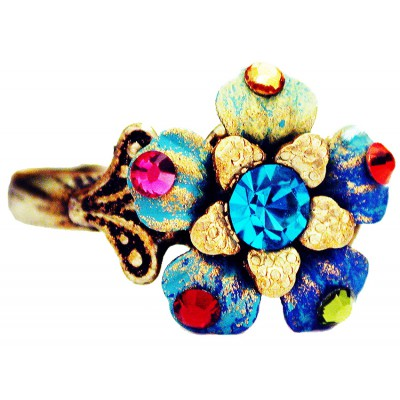 Michal Negrin Multicolor Flower Ring