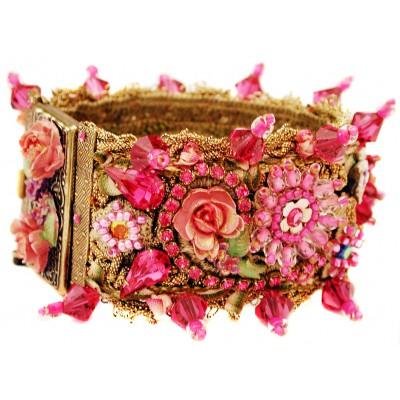 Michal Negrin Fuchsia Embellished Bracelet
