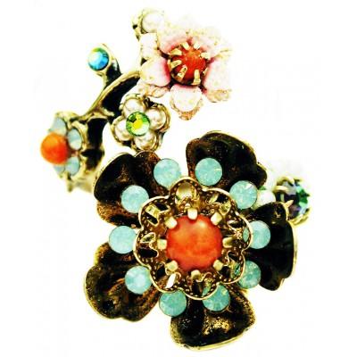Michal Negrin Vintage Wild Flowers Spiral Ring