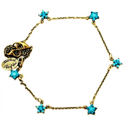 Michal Negrin Turquoise Starflowers Anklet