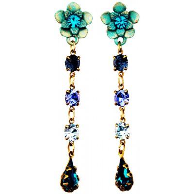 Michal Negrin Turquoise Blue Aqua Post Earrings