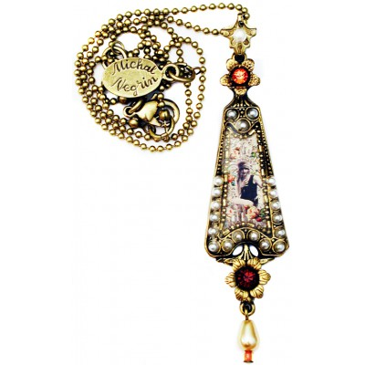 Michal Negrin Pearl Retro Girl Triangle Necklace
