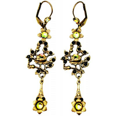 Michal Negrin Black Gold Gypsy Rose Earrings