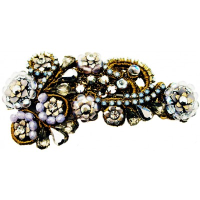 Michal Negrin Silver Blue Lace Hair Clip