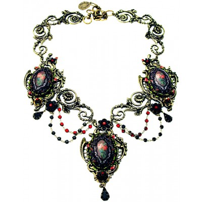 Michal Negrin Spanish Roses Statement Necklace