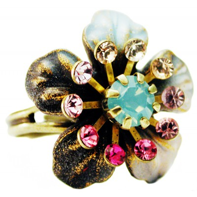 Michal Negrin Swirl Flower Ring