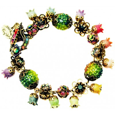 Michal Negrin Multicolor Bells Bracelet