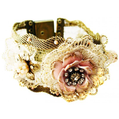 Michal Negrin Rose Corsage Bracelet