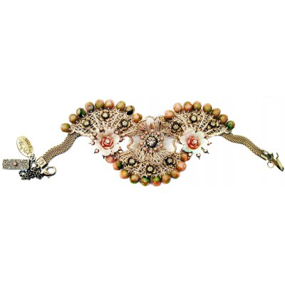 Michal Negrin Antique Glory Lace Fans Bracelet