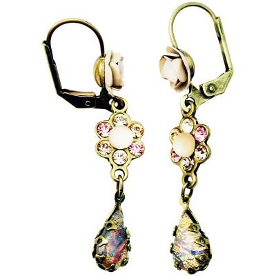 Michal Negrin Antique Rose Teardrop Earrings