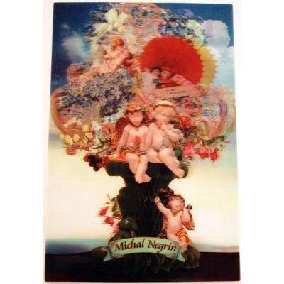 Michal Negrin Angels Lenticular Postcard
