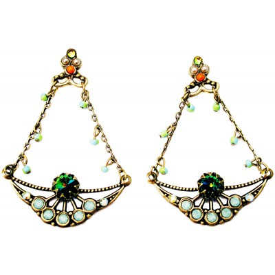 Michal Negrin Art Nouveau Earrings