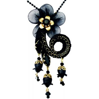 Michal Negrin Black Asymmetric Necklace