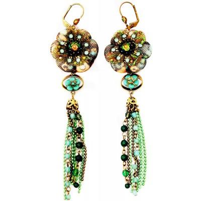 Michal Negrin Boho Flower Beads Earrings