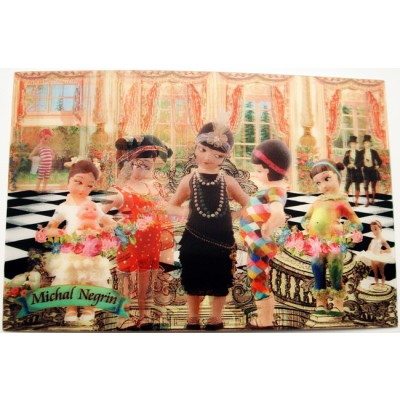 Michal Negrin Party Lenticular 3D Postcard