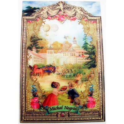 Michal Negrin Antique Mansion Lenticular Postcard