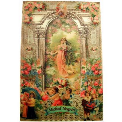 Michal Negrin Victorian Romance Lenticular Postcard