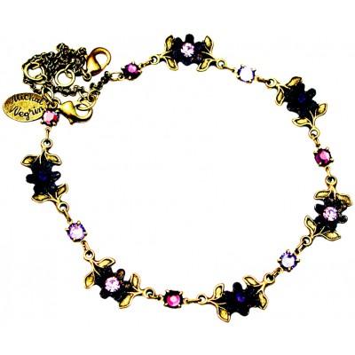 Michal Negrin Purple Violet Floral Anklet