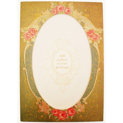 Michal Negrin Victorian Photo Frame Greeting Card