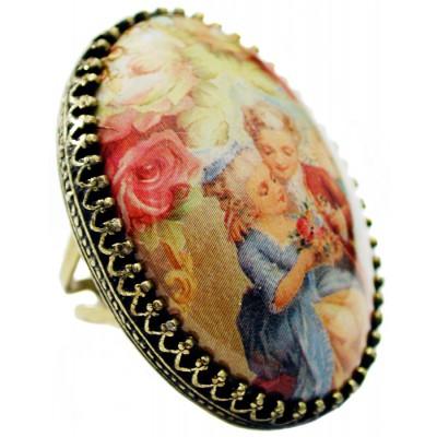 Michal Negrin Baroque Love Cabochon Cameo Ring