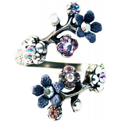 Michal Negrin Silver Plated Cherry Blossom Wrap Ring