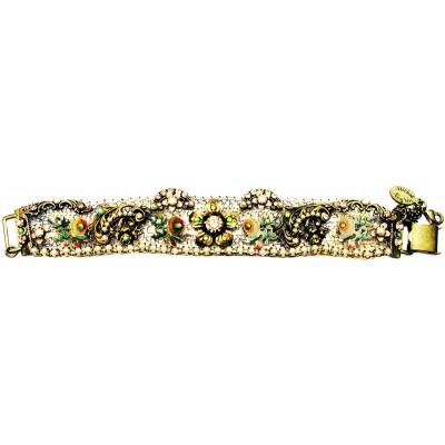 Michal Negrin Antique Flowers Mesh Bracelet