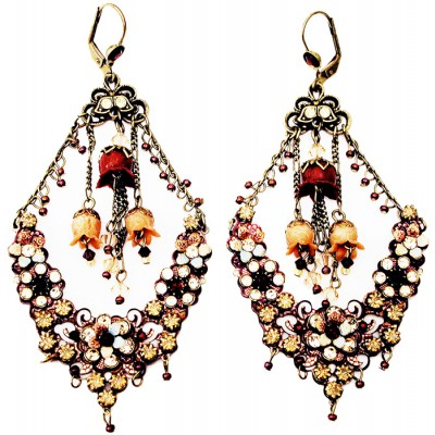 Michal Negrin Antique Crystal Drama Earrings