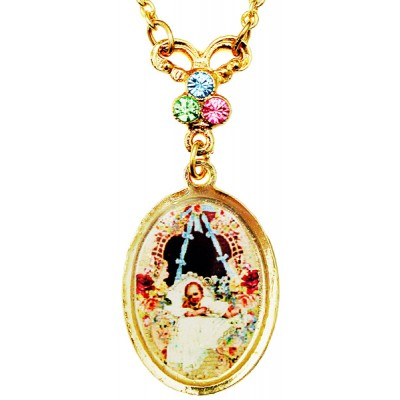 Michal Negrin Baby Oval Cameo Gold Plated Necklace