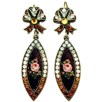Michal Negrin Antique Roses Eye Cameo Earrings