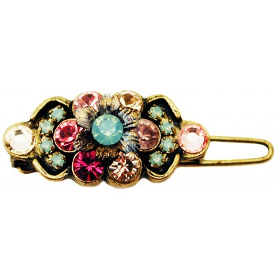 Michal Negrin Pink Sea Green Crystal Hairpin