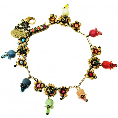 Michal Negrin Multicolor Bells Crystals Bracelet