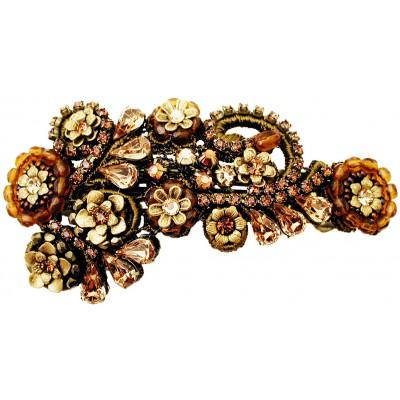 Michal Negrin Bronze Gold Lace Hair Clip