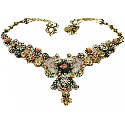Michal Negrin Venetian Lace Crystals Necklace
