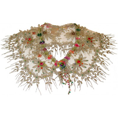 Michal Negrin Lace Multicolor Collar Necklace