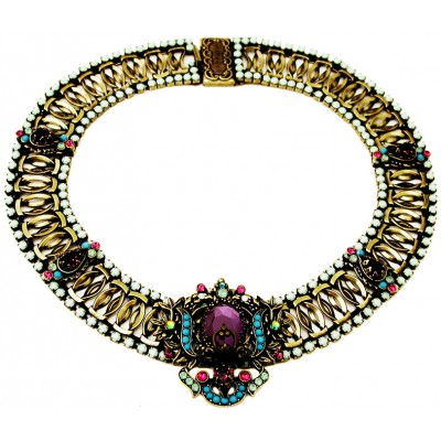 Michal Negrin Antique Crystals Necklace