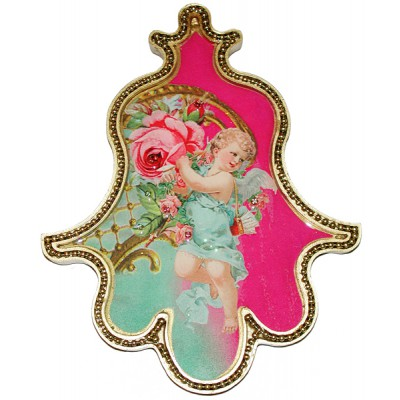Michal Negrin Antique Cherub Wall Hamsa