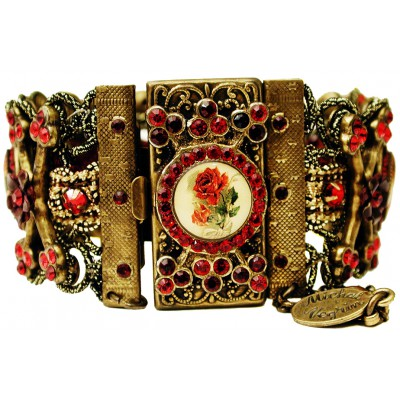Michal Negrin Red Roses Cameos Bracelet