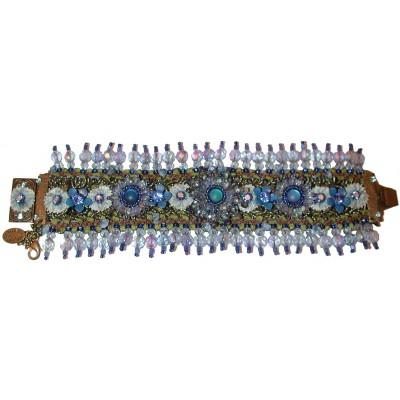 Michal Negrin Blue Embellished Bracelet