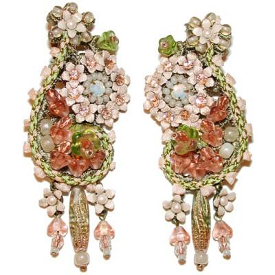 Michal Negrin Vintage Lace Clip Earrings